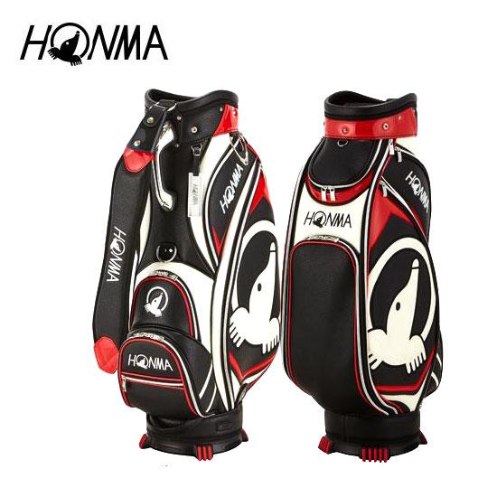 ゴルフ メンズ キャディバッグ 本間ゴルフ HONMA ホンマゴルフ モグラアクセントキャディバッグ CB-1810 ブラック 黒 9型