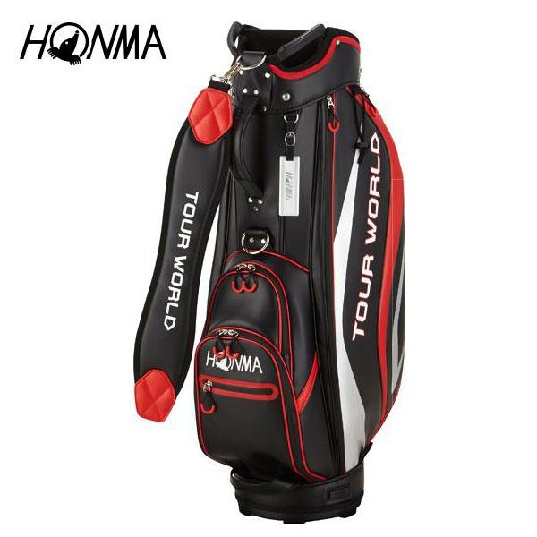 ゴルフ メンズ キャディバッグ 本間ゴルフ HONMA ホンマゴルフ TOUR WORLD 防水キャディバッグ CB-1813 ブラック 黒 9型