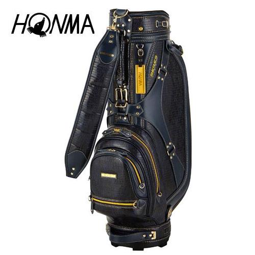 ゴルフ メンズ キャディバッグ 本間ゴルフ HONMA ホンマゴルフ BERES クラシカルキャディバッグ CB-1814 ネイビー 9型