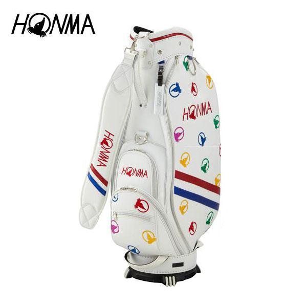 ゴルフ メンズ キャディバッグ 本間ゴルフ HONMA ホンマゴルフ モグラランダム キャディバッグ CB-1816 ホワイト 白 8.5型