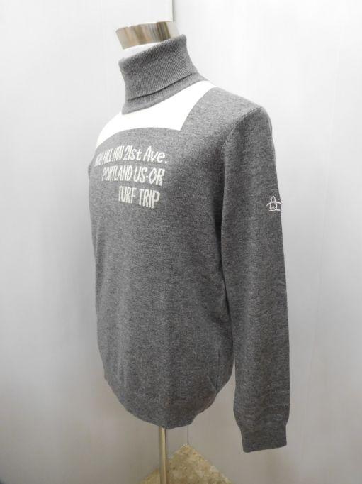 ゴルフウェア 秋冬 メンズウエア マンシングウェア タートルネック長袖セーター JWMK415 N600 M:AWM414 L:AWM415