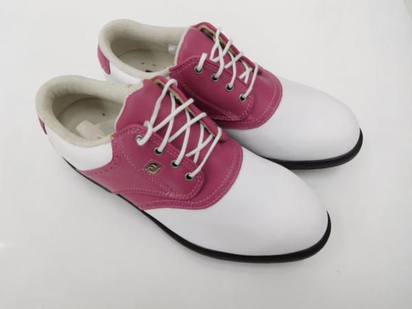ゴルフ レディース シューズ 女性用 靴 フットジョイ ドライジョイ Footjoy dryjoy 99134 ホワイト×ピンク SU014