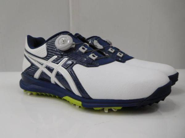 ゴルフ シューズ 靴 メンズ 男性用 アシックス asics GELACE TGN913 WH SU027