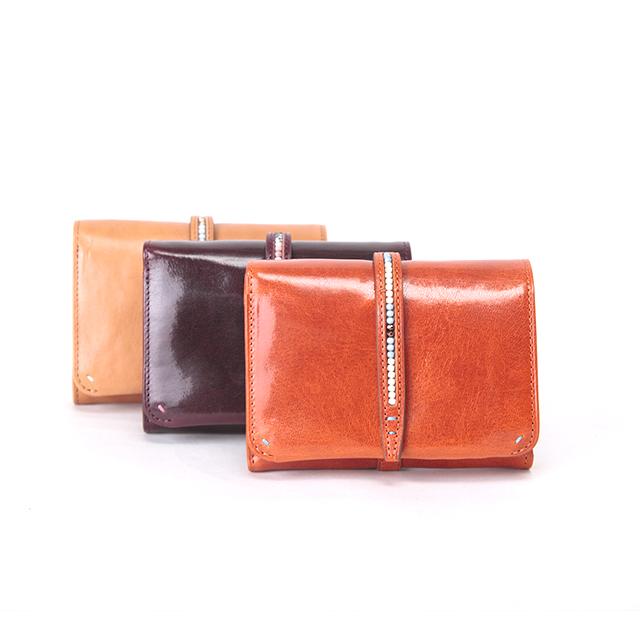 ダコタ 二つ折り財布 0036060 ルクス イタリア製牛革 チョコビーズ / Dakota Lux イタリアンレザー