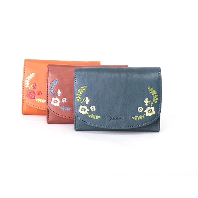 ダコタ 二つ折り財布 0036081 リカモ イタリア製牛革 花柄 / Dakota Ricamo イタリアンレザー