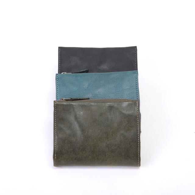 ダコタ ブラックレーベル 二つ折り財布 0626801 ガウディ ブラック チョコ カーキ ターコイズブルー Dakota Black Lable イタリアンレザー アンティック加工