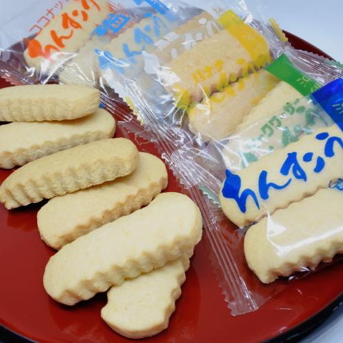 メール便送料無料 リニューアルIIちんすこう 24個 12袋 現金特価 6種類 プレーン シークヮサー バナナ ココナッツ 黒糖 小黒糖付き 塩 限定特価