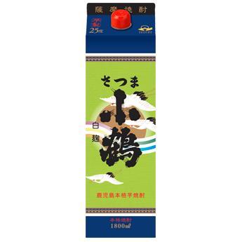 AL完売しました。 お買得 リニューアル キレよく ふわっと 薩摩芋焼酎 さつま小鶴 1800mlパック 小正醸造 25度