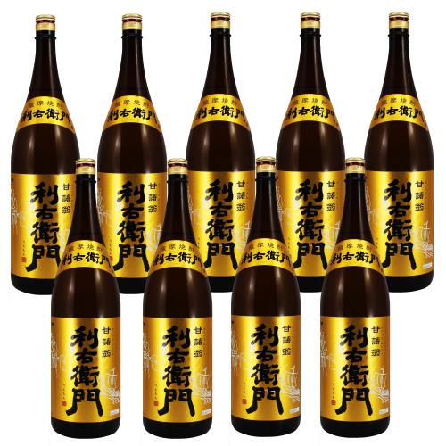 【送料無料】薩摩芋焼酎 指宿酒造 利右衛門(りえもん) 25度 1800ml×9本