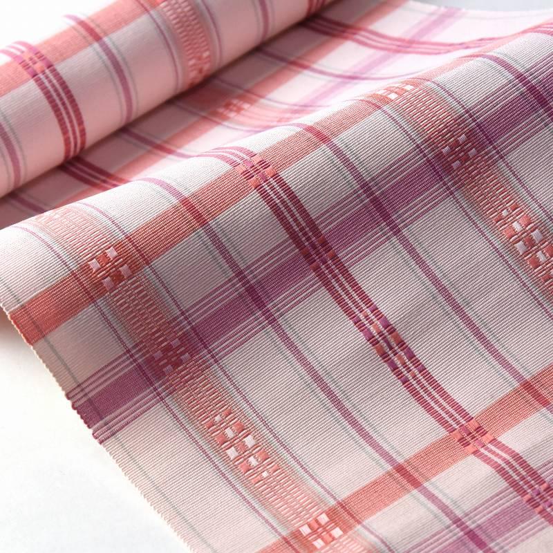 八寸帯 お仕立て付き 沖縄県 首里織 花織 手織り 織り帯 八寸名古屋帯(六通柄)綿100% 桜色 カジュアル着用 送料無料