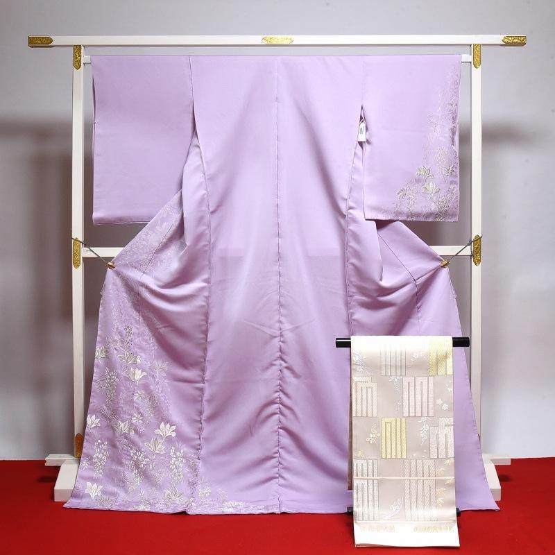 訪問着と袋帯のセット 手縫いお仕立て付き♪「山口美術織物」謹製 人気映画女優着用柄 【裄68.5cmまで】結婚式・披露宴・パーティ・お見合い・結納・入卒式・宮参り・七五三に♪送料無料