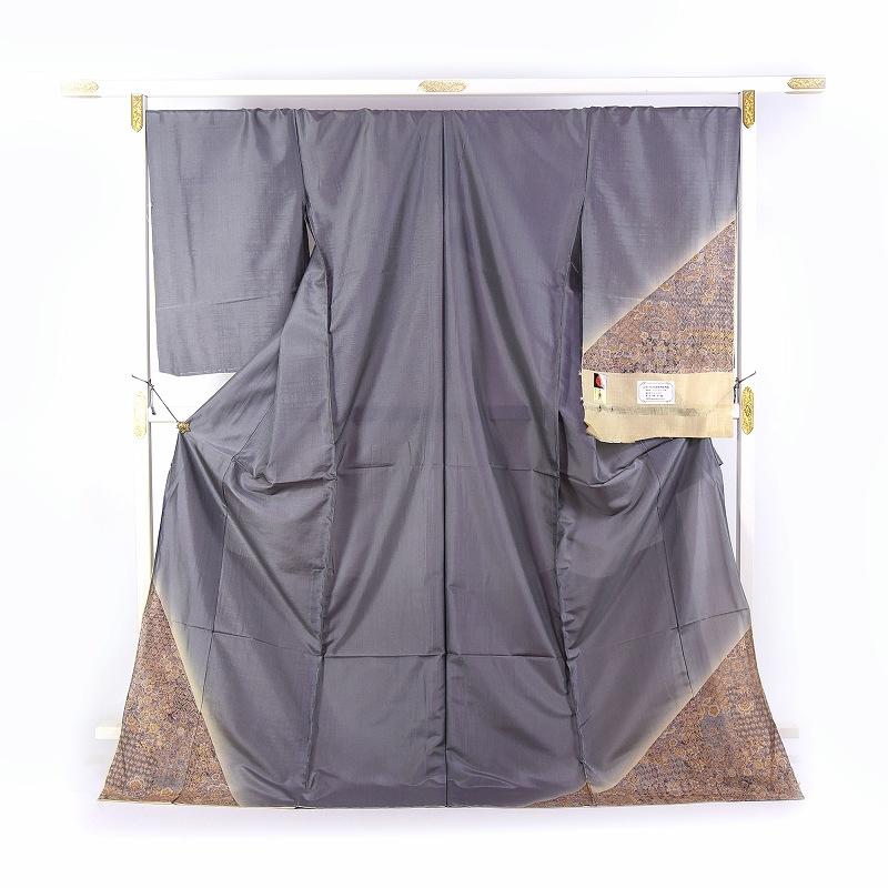 カジュアル訪問着 袷フルオーダー手縫いお仕立て付き 京友禅 ムガシルク 更紗文様 最高級紬の訪問着2