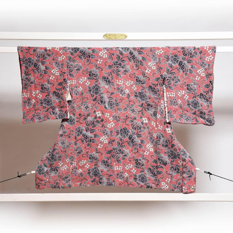 羽織 フルオーダー手縫いお仕立て付き 藤娘きぬたや 正絹 総絞り お花の総柄 濃桃色  送料無料
