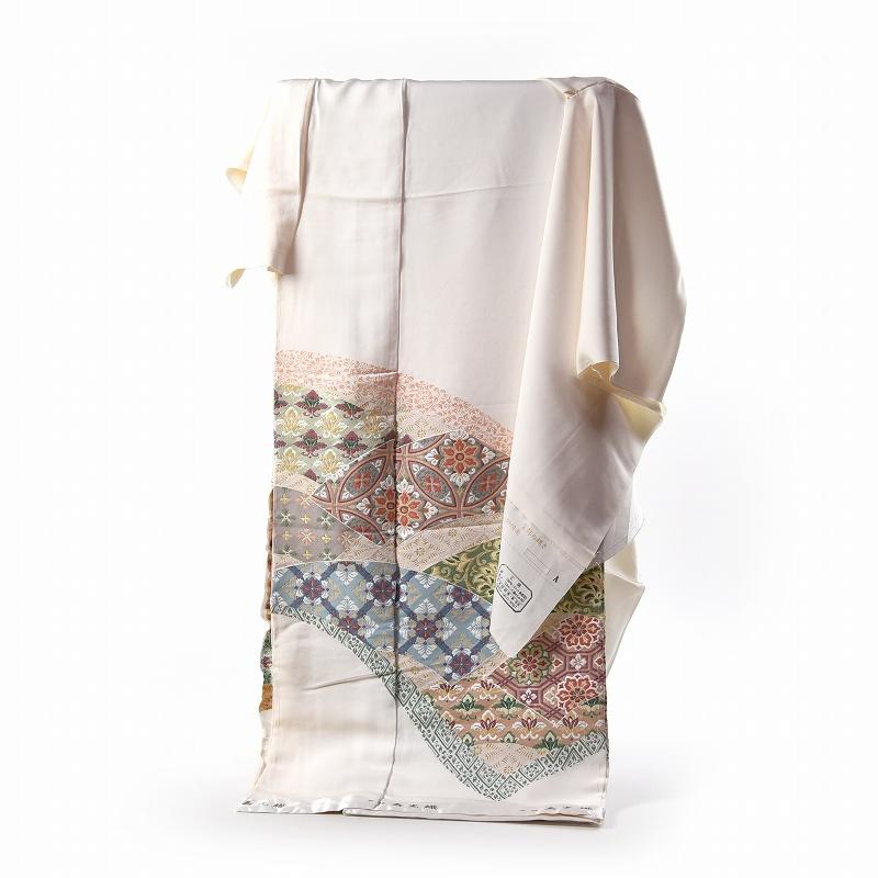 寿光織 最高峰縫取刺繍 訪問着/留袖 宝飾の輝き 生成り色 手縫いお仕立て付き 染め替え付き 【裄68.5cm位まで】
