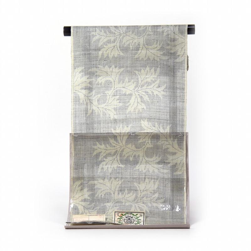 訳あり特価! 重要無形文化財 宮古上布 最高級の本麻着尺 経緯総絣 手績み苧麻糸