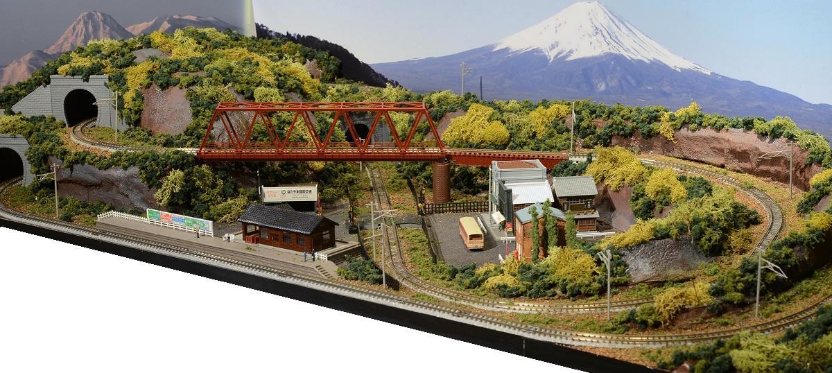 「送料込み」鉄道模型ジオラマレイアウトNゲージ用 単線[120cm×60cm]8の字●注文製作●120x60-27