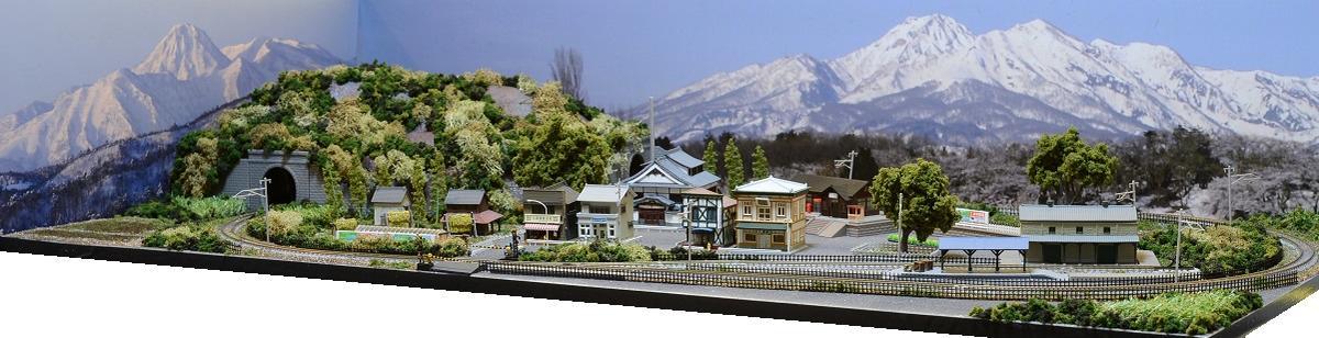 「送料込み」鉄道模型ジオラマレイアウトNゲージ用 単線[120cm×60cm]引き込み駅と貨物駅のある風景●注文製作●120x60-23