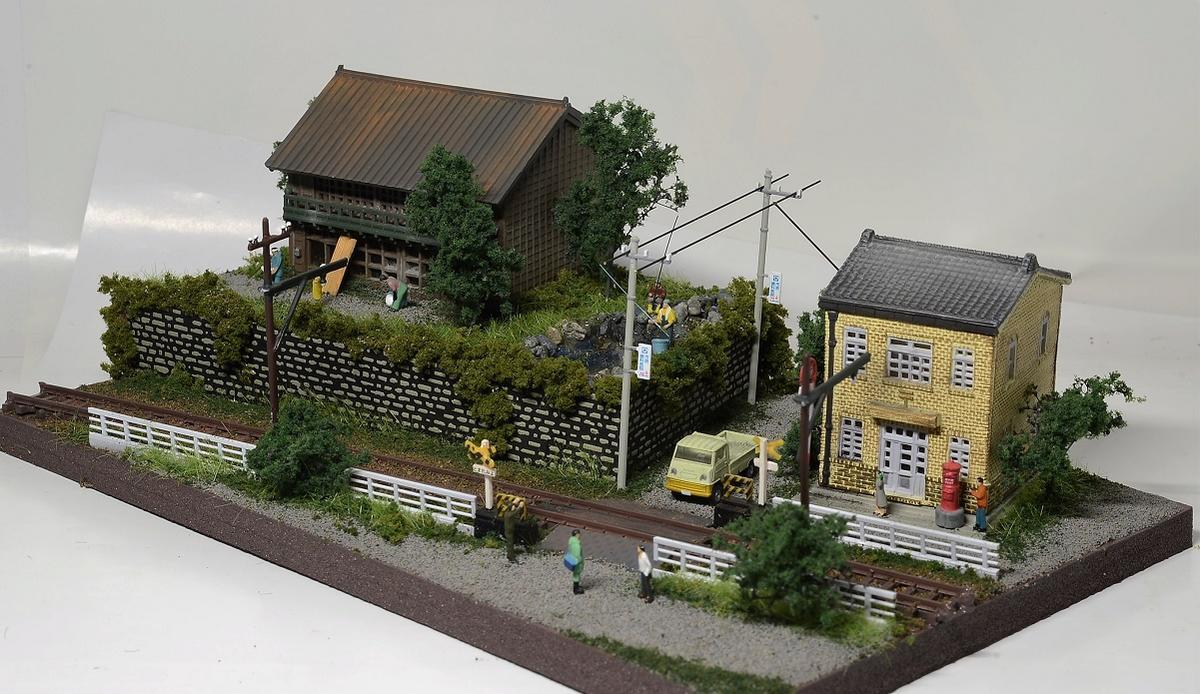 Nゲージ鉄道模型用展示台 みにらま 街角●注文製作●