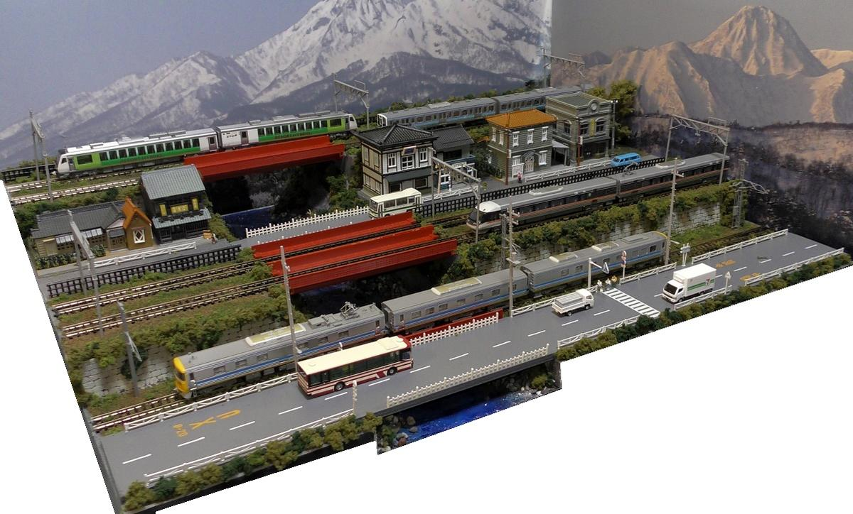 「送料込み」Nゲージ鉄道模型用展示台 【60x45】5線路●注文製作●