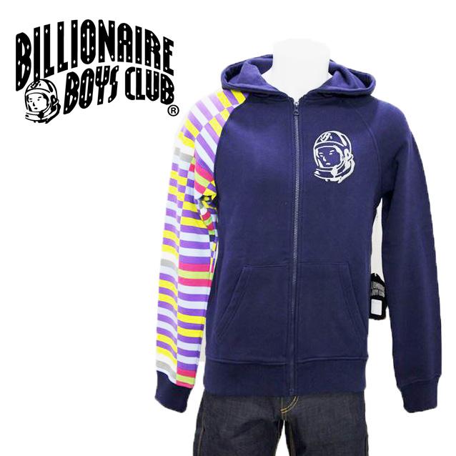 50 BILLIONAIRE BOYS CLUB ビリオネアボーイズクラブ Zip Hoody in Peacoat ジップフード