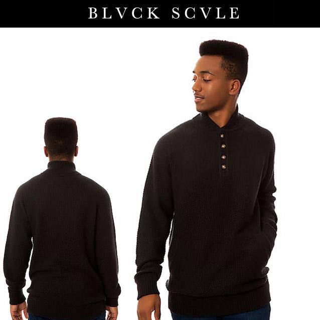 50 BLACK SCALE ブラックスケール GUNGHO SWEATER セーター 送料無料