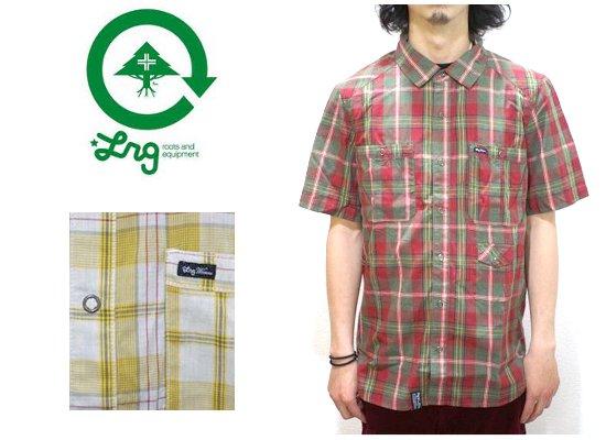 セール LRG エルアールジー YELL CHECK S/S SHIRT 半袖 チェックシャツ