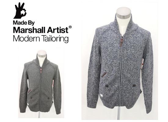 セール50%オフ MARSHALL ARTISTS マーシャルアーティス ZIP UP CARDIGAN ジップカーディガン 送料無料