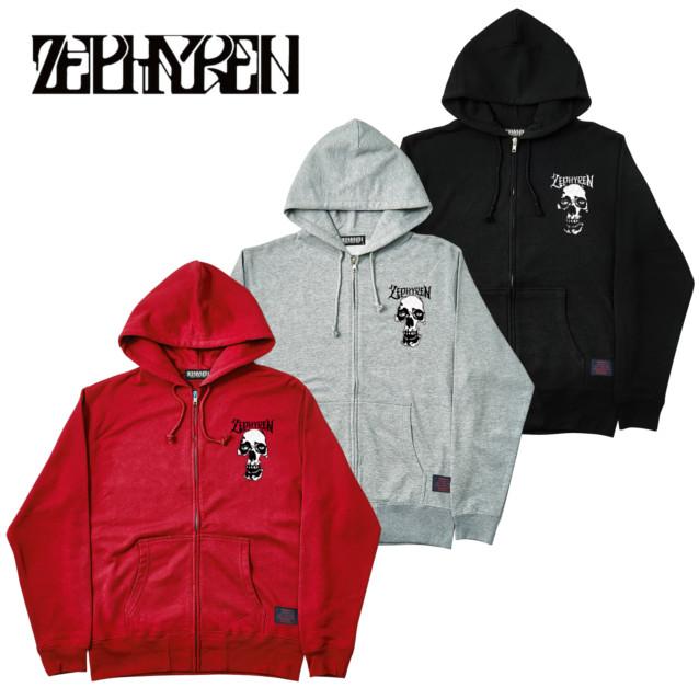 セール ZEPHYREN ゼファレン ZIP PARKA SKULL HEAD ジップパーカー
