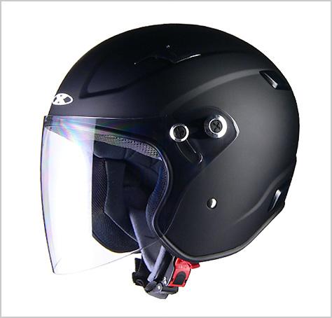 【リード工業】 X-AIR RAZZOIII ジェットヘルメット マットブラック /LEAD ラッツォ エックス エアー