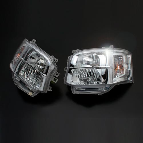 ハイエース200系 3型(後期) HIDルック ヘッドライト クリア【1・2型対応!】安心のDEPO製1年保証付き!