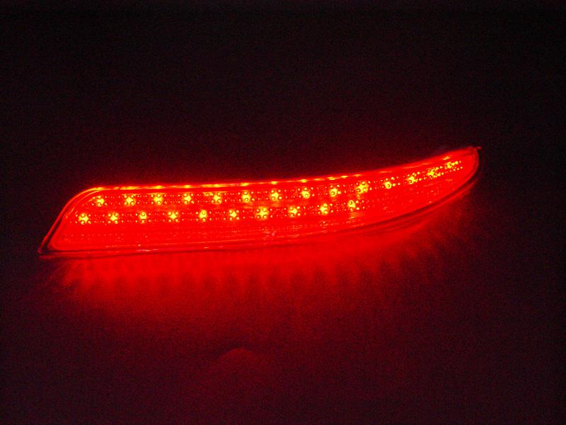 LED 리어범퍼 반사경(클리어 레드) 닛산 세레나 C26계(S, X, G, 하이웨이 스타)