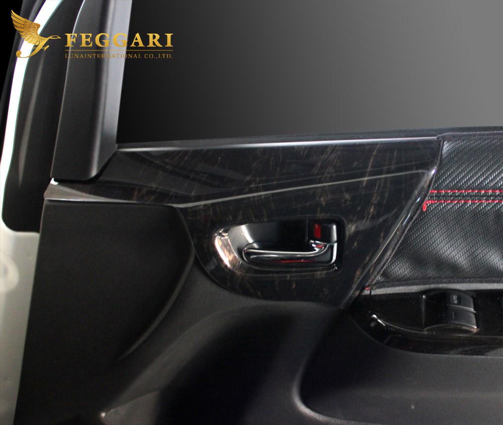 ルナインターナショナルの高品質パネル パネルで内装を一新 簡単取付 ハイエース レジアスエース 引出物 200系 休み 2ピース 3D立体 インターナショナル フェガーリ 全7色設定 ルナ インテリアパネル FEGGARI サイド