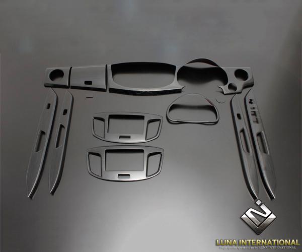 ◆(ルナインターナショナル) ワゴンR MH34 2012/9~ 黒木目 (12ピース[12P]) 3D立体インテリアパネル / パネル 内装 インパネ