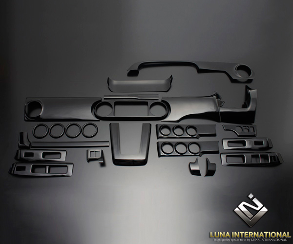 (ルナインターナショナル) カローラルミオン NZ/ZRE150系 ピアノブラック (25ピース[25P]) 3D立体インテリアパネル / パネル 内装 インパネ
