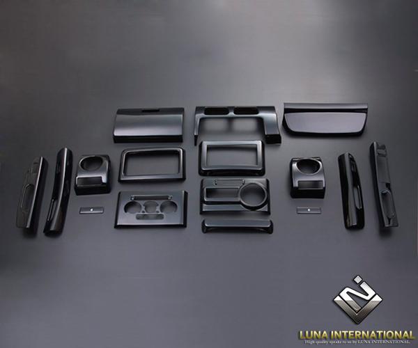 (ルナインターナショナル) ムーヴ コンテ L575 ピアノブラック (16ピース[16P]) 3D立体インテリアパネル / パネル 内装 インパネ