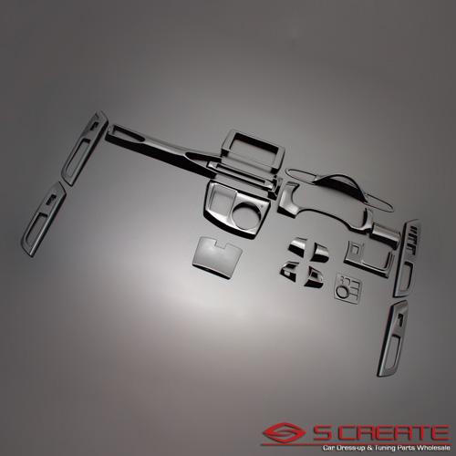 16ピース/16P / 茶木目調 内装 (ZRR70/ZRR75) インパネ 3D立体インテリア内装ウッドパネル ノア・ヴォクシー
