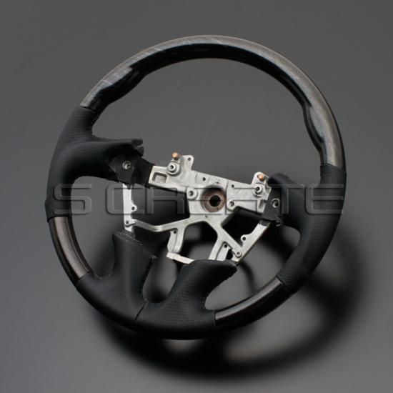 ムラーノ Z51 [2008/9~] スポーツタイプ ウッドコンビステアリング (シルバーローズウッド/ブラック) / steering ハンドル ホイール