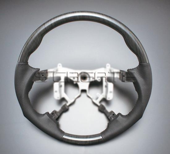 ブレイド AZE/GRE150系 [2006/12~2009/12 (前期)] スポーツタイプ ウッドコンビステアリング (黒木目) / steering ハンドル ホイール