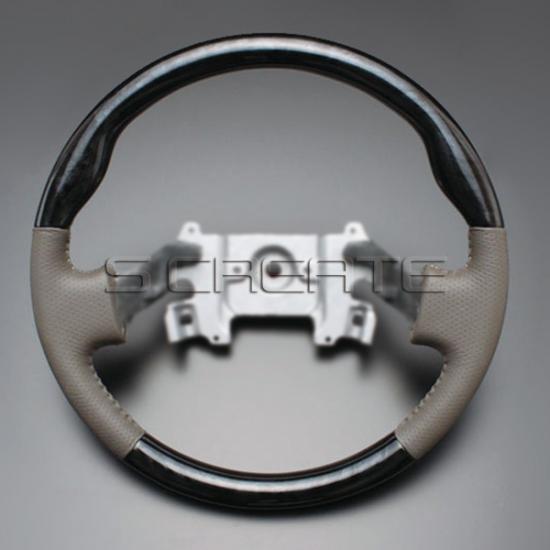 エブリィ/エブリィワゴン DA64/DA64W [2005/8~] ノーマルタイプ ウッドコンビステアリング (黒木目) / steering ハンドル ホイール