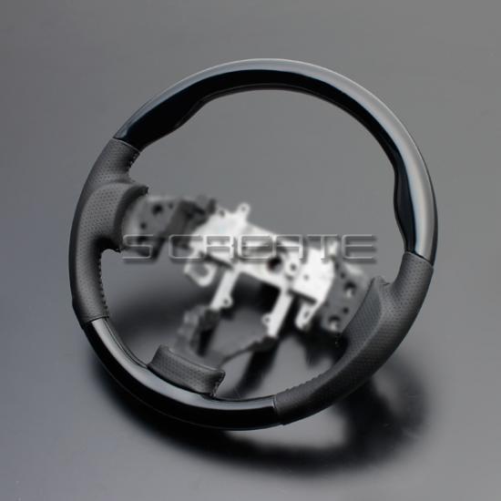 パレット(MK21S) ピアノブラック&ガングリップ ステアリング