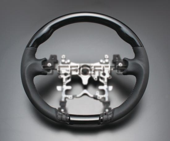 プリウス ZVW30 黒木目ウッドガングリップ �� パン�ングレザーステアリング �定特価