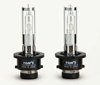 TOMS トムス エスティマ ハイブリッド AHR20W用 H.I.D.ホワイトバルブ 6000k 純正品番90981-TD4R3