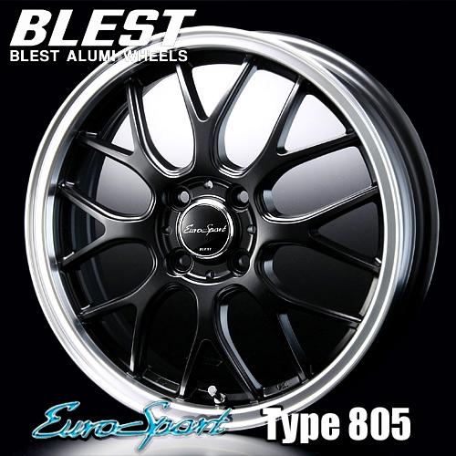BLEST(ブレスト) ユーロスポーツ タイプ 805 アルミホイール(1本) 16x6.0 +40 100 4穴(セミグロスブラック) / EuroSport Type 805 16インチ