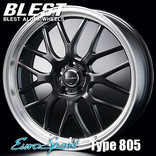 BLEST(ブレスト) ユーロスポーツ タイプ 805 アルミホイール(1本) 17x7.0 +45 100 5穴(セミグロスブラック) / EuroSport Type 805 17インチ