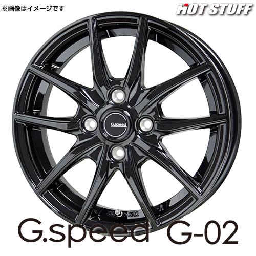 Gスピード G・02 アルミホイール(1本) 14x5.5 +38 100 4穴(メタリックブラック) / 14インチ G.speed G-02 G02