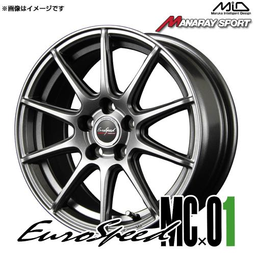 ユーロスピード MCx01 アルミホイール(1本) 17x7.0 +48 114.3 5穴(メタリックグレー) / 17インチ EuroSpeed MC01 MC-01