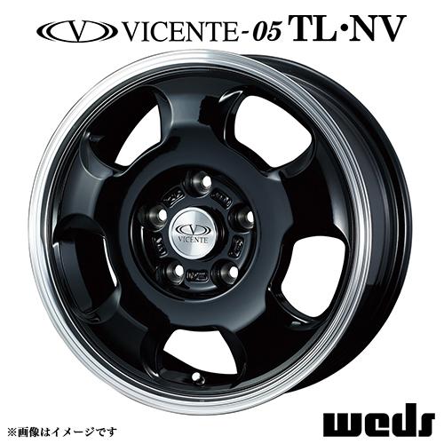 ヴィセンテ 05 NV アルミホイール(1本) 15x6.0 +45 114.3 5穴(ブラック/ポリッシュ) / 15インチ VICENTE-05 NV