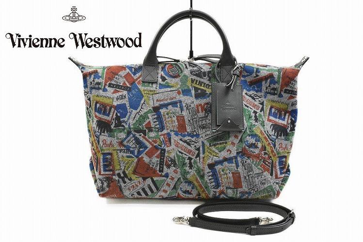 ヴィヴィアン ウエストウッド トートバッグ バッグ 大きめ レディース ブランド Vivienne Westwood トラベル 2way グレー ファスナー 付き ショルダーベルト A4 女性 婦人 42499002 x1x 【あす楽】