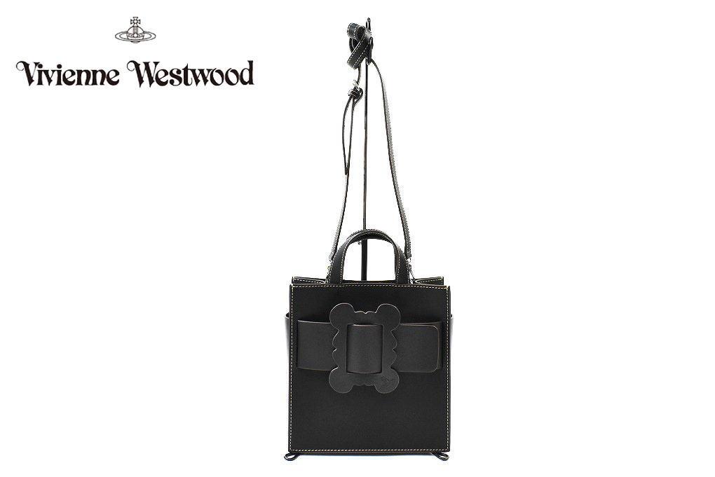 ヴィヴィアン ウエストウッド トートバッグ ショルダーバッグ バッグ レディース ブランド Vivienne Westwood フレーム 2way 小さめ 黒 ブラック 女性 婦人 本革 42497331 x1x 【あす楽】