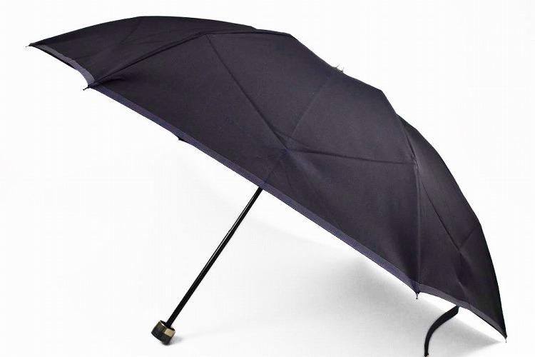 訳あり バーバリー 日本製 折りたたみ 雨傘 BURBERRY レディース 傘 バイカラー ネイビー 濃紺   55cm 女性 ブランド シンプル【あす楽】